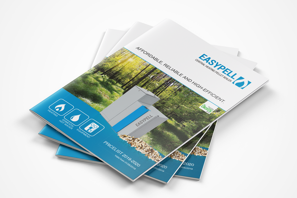 Easypell Pellet Burner Brochure for Central Heating